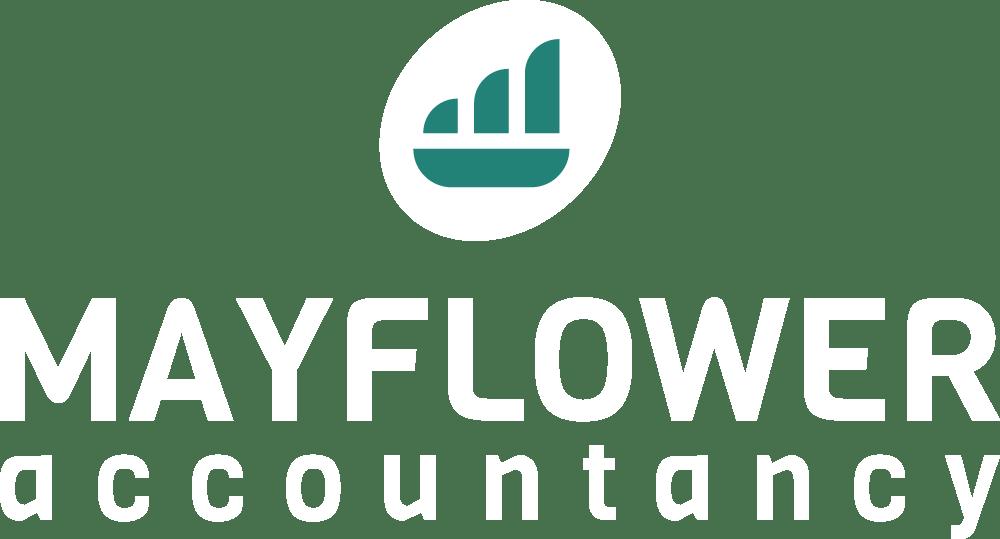 Mayflower Accountancy logo vertically stacked light